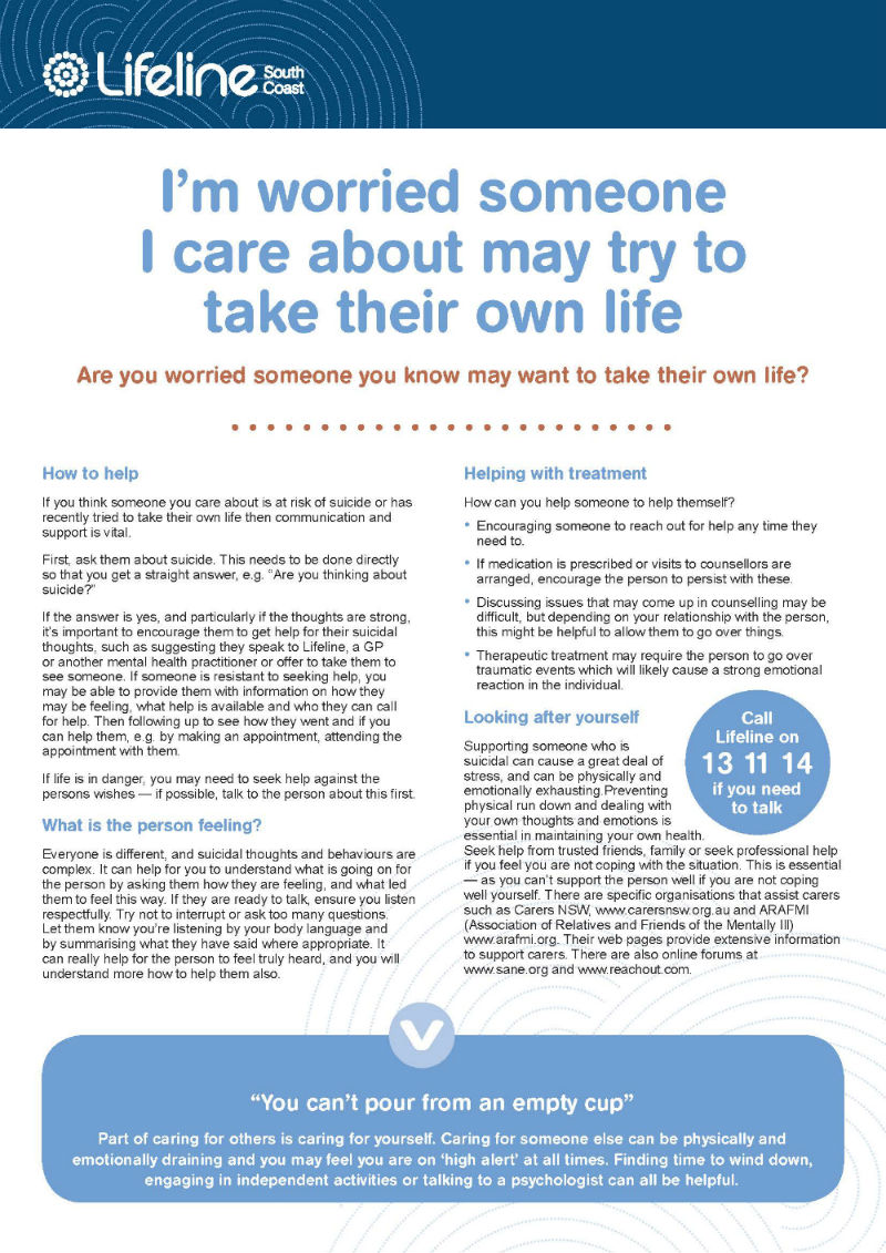 Free Mental Health Fact Sheets